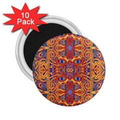 Oriental Watercolor Ornaments Kaleidoscope Mosaic 2 25  Magnets (10 Pack)  by EDDArt
