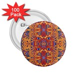 Oriental Watercolor Ornaments Kaleidoscope Mosaic 2.25  Buttons (100 pack)  Front