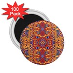Oriental Watercolor Ornaments Kaleidoscope Mosaic 2.25  Magnets (100 pack)