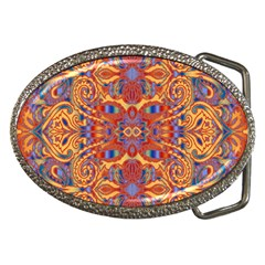 Oriental Watercolor Ornaments Kaleidoscope Mosaic Belt Buckles by EDDArt