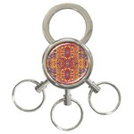 Oriental Watercolor Ornaments Kaleidoscope Mosaic 3-Ring Key Chains Front