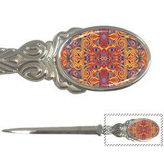 Oriental Watercolor Ornaments Kaleidoscope Mosaic Letter Openers by EDDArt