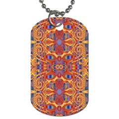 Oriental Watercolor Ornaments Kaleidoscope Mosaic Dog Tag (one Side)
