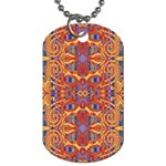 Oriental Watercolor Ornaments Kaleidoscope Mosaic Dog Tag (Two Sides)