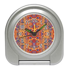 Oriental Watercolor Ornaments Kaleidoscope Mosaic Travel Alarm Clocks