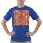 Oriental Watercolor Ornaments Kaleidoscope Mosaic Dark T-Shirt