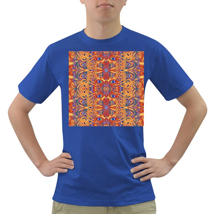 Oriental Watercolor Ornaments Kaleidoscope Mosaic Dark T-Shirt