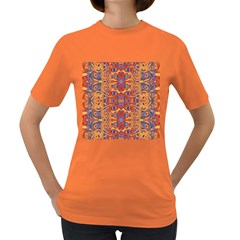 Oriental Watercolor Ornaments Kaleidoscope Mosaic Women s Dark T Shirt by EDDArt
