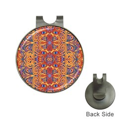 Oriental Watercolor Ornaments Kaleidoscope Mosaic Hat Clips With Golf Markers