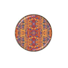 Oriental Watercolor Ornaments Kaleidoscope Mosaic Hat Clip Ball Marker by EDDArt