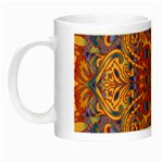 Oriental Watercolor Ornaments Kaleidoscope Mosaic Night Luminous Mugs Left