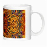 Oriental Watercolor Ornaments Kaleidoscope Mosaic Night Luminous Mugs Right