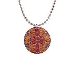 Oriental Watercolor Ornaments Kaleidoscope Mosaic Button Necklaces by EDDArt