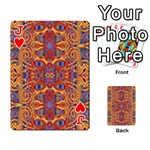 Oriental Watercolor Ornaments Kaleidoscope Mosaic Playing Cards 54 Designs  Front - HeartJ