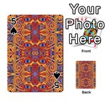 Oriental Watercolor Ornaments Kaleidoscope Mosaic Playing Cards 54 Designs  Front - Spade5