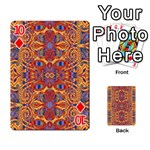 Oriental Watercolor Ornaments Kaleidoscope Mosaic Playing Cards 54 Designs  Front - Diamond10