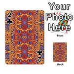 Oriental Watercolor Ornaments Kaleidoscope Mosaic Playing Cards 54 Designs  Front - Club2