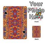 Oriental Watercolor Ornaments Kaleidoscope Mosaic Playing Cards 54 Designs  Front - Spade8