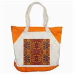 Oriental Watercolor Ornaments Kaleidoscope Mosaic Accent Tote Bag Front