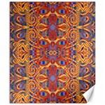 Oriental Watercolor Ornaments Kaleidoscope Mosaic Canvas 8  x 10