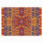 Oriental Watercolor Ornaments Kaleidoscope Mosaic Large Glasses Cloth (2-Side) Back