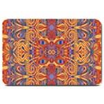 Oriental Watercolor Ornaments Kaleidoscope Mosaic Large Doormat