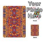 Oriental Watercolor Ornaments Kaleidoscope Mosaic Multi-purpose Cards (Rectangle)  Back 16
