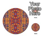 Oriental Watercolor Ornaments Kaleidoscope Mosaic Multi-purpose Cards (Round)  Back 29
