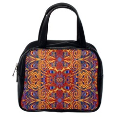 Oriental Watercolor Ornaments Kaleidoscope Mosaic Classic Handbags (one Side) by EDDArt