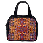 Oriental Watercolor Ornaments Kaleidoscope Mosaic Classic Handbags (One Side) Front