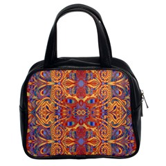 Oriental Watercolor Ornaments Kaleidoscope Mosaic Classic Handbags (2 Sides) by EDDArt
