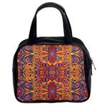 Oriental Watercolor Ornaments Kaleidoscope Mosaic Classic Handbags (2 Sides)