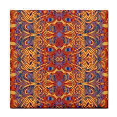 Oriental Watercolor Ornaments Kaleidoscope Mosaic Face Towel by EDDArt