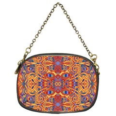Oriental Watercolor Ornaments Kaleidoscope Mosaic Chain Purses (one Side)