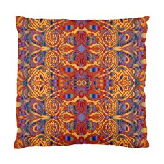 Oriental Watercolor Ornaments Kaleidoscope Mosaic Standard Cushion Case (two Sides) by EDDArt