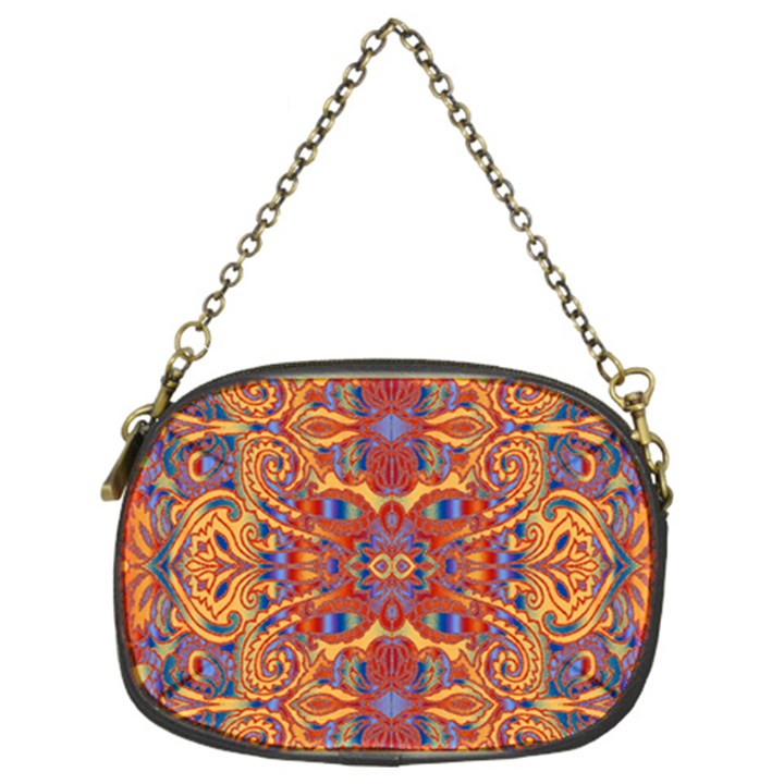 Oriental Watercolor Ornaments Kaleidoscope Mosaic Chain Purses (Two Sides)