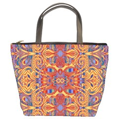 Oriental Watercolor Ornaments Kaleidoscope Mosaic Bucket Bags by EDDArt