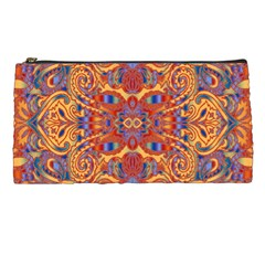 Oriental Watercolor Ornaments Kaleidoscope Mosaic Pencil Cases