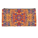 Oriental Watercolor Ornaments Kaleidoscope Mosaic Pencil Cases Front