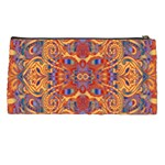 Oriental Watercolor Ornaments Kaleidoscope Mosaic Pencil Cases Back