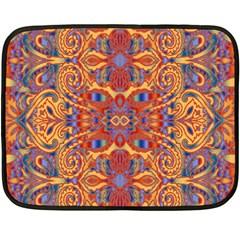 Oriental Watercolor Ornaments Kaleidoscope Mosaic Double Sided Fleece Blanket (Mini)