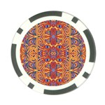 Oriental Watercolor Ornaments Kaleidoscope Mosaic Poker Chip Card Guards (10 pack)  Back