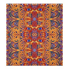 Oriental Watercolor Ornaments Kaleidoscope Mosaic Shower Curtain 66  X 72  (large)  by EDDArt