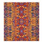 Oriental Watercolor Ornaments Kaleidoscope Mosaic Shower Curtain 66  x 72  (Large)  58.75 x64.8 Curtain
