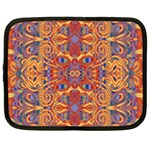 Oriental Watercolor Ornaments Kaleidoscope Mosaic Netbook Case (XL)  Front
