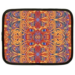 Oriental Watercolor Ornaments Kaleidoscope Mosaic Netbook Case (xxl)  by EDDArt