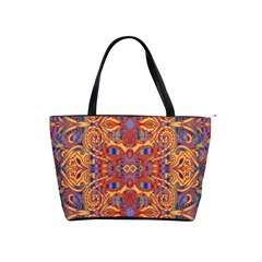 Oriental Watercolor Ornaments Kaleidoscope Mosaic Shoulder Handbags by EDDArt