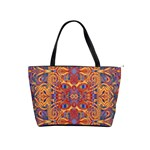Oriental Watercolor Ornaments Kaleidoscope Mosaic Shoulder Handbags Front