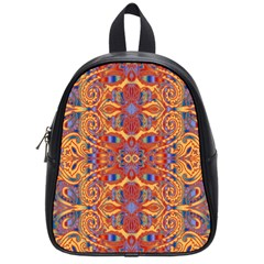 Oriental Watercolor Ornaments Kaleidoscope Mosaic School Bags (small)  by EDDArt