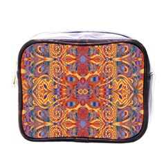 Oriental Watercolor Ornaments Kaleidoscope Mosaic Mini Toiletries Bags